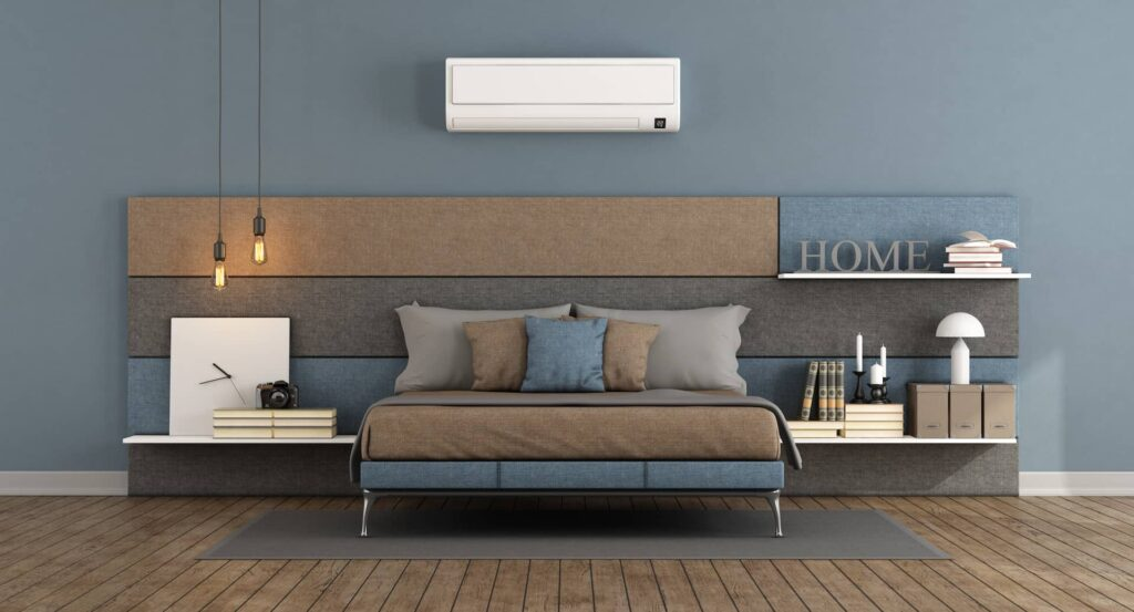Room with a serviced Air Conditioner